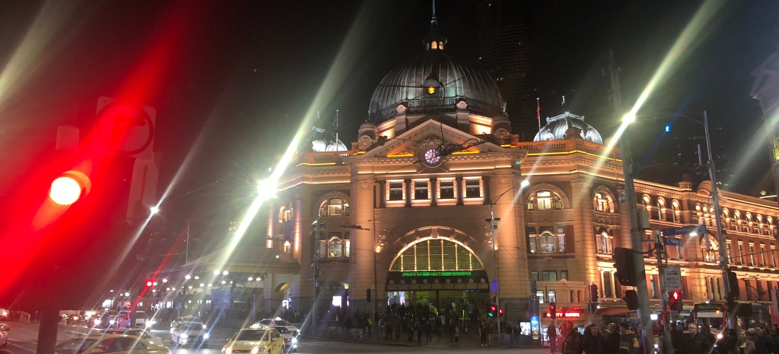 Historic Flinders Street Station in the heart of Melbourne City