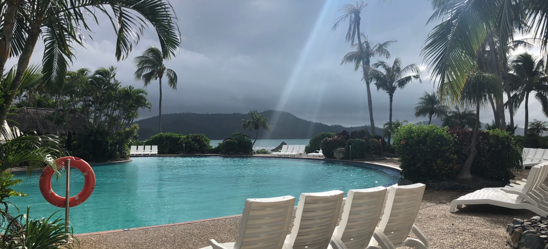 A cloudy, yet beautiful day by the pool in Hamilton Island