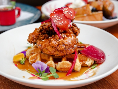 Toco Dirty Bird Fried Chicken and Waffles