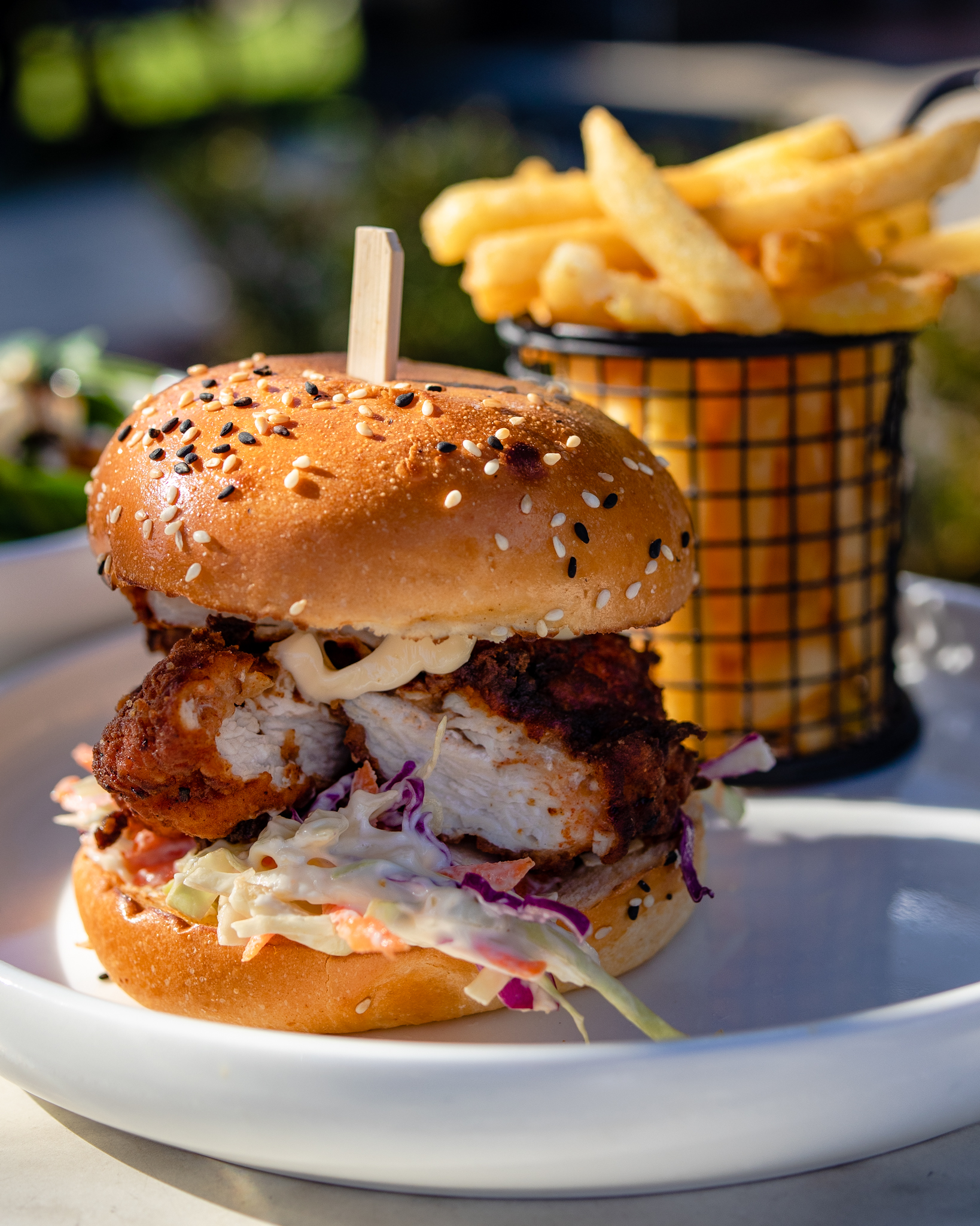 The Woods Pantry Southern Fried Chicken Burger